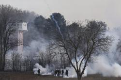 Slzný plyn na řecko-turecké hranici