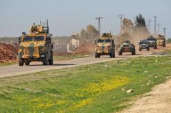 Rusko-turecká hlídka v Idlibu