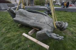 Odstraňovaná socha maršála Koněva