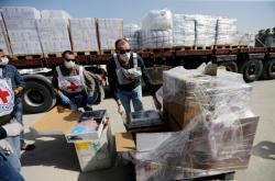 Zdravotnický materiál pro Gazu od Mezinárodního výboru Červeného kříže