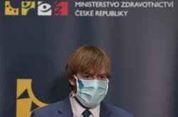 Ministr zdravotnictví Adam Vojtěch (za ANO) během tiskové konference