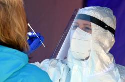 Testování  zaměstnanců nemocnice v Chebu