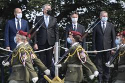 Zástupci resortů obrany států V4 na pražském Vítkově