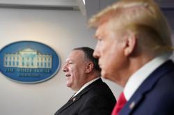 Ministr zahraničí Mike Pompeo a prezident Donald Trump