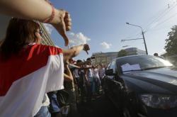 Demonstrace proti běloruskému režimu v Minsku
