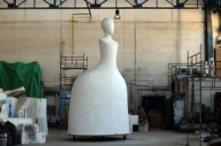 Výroba sochy Marie Terezie