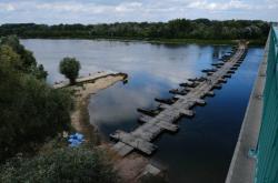 Pontonový most přes Vislu