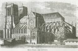 Katedrála Notre-Dame v roce 1855