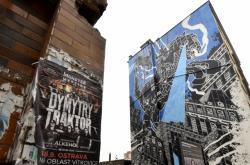 Mural art v Nádražní ulici v Ostravě