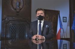 Radek Vondráček při novoročním projevu v roce 2021