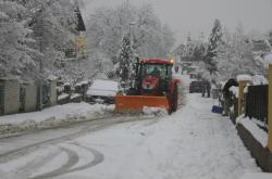 Sněžení v Novohrandských horách