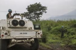 Místo útoku na konvoj OSN v Kongu