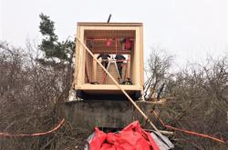 Dřevěnou nástavbou vznikne na řopíku útulna
