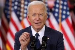 Joe Biden hovoří o plánu infrastruktury během akce v Pittsburghu