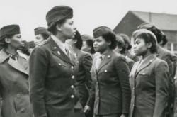 Členky jediné ženské afroamerické jednotky v Evropě za druhé světové války - praporu 6888