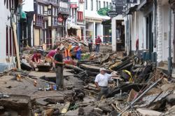 Následky povodní v Bad Muenstereifelu