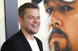 Matt Damon na premiéře filmu Stillwater