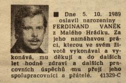Ferdinand Vaněk