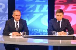 Andrej Kiska a Robert Fico