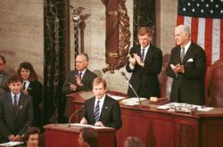 Václav Havel v Kongresu USA v únoru 1990