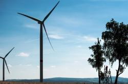 Větrný park v Andělce