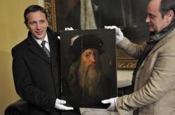 Obraz tváře Leonarda da Vinciho