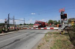 Železniční přejezd ve Studénce