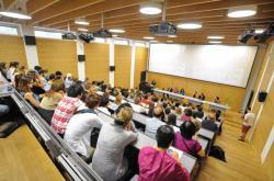 Posluchárna brněnské Masarykovy univerzity