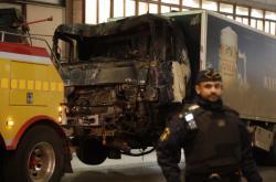 Odtah kamionu použitého při útoku