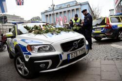 Švédská policie ve Stockholmu