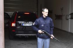 Marek Dalík opustil věznici v černém volvu se zatemněnými skly