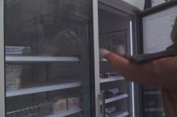 Sdílená lednička v londýnské čtvrti Brixton