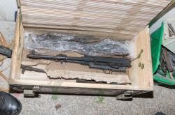 Zbraně a výbušniny nalezené při domovních prohlídkách
