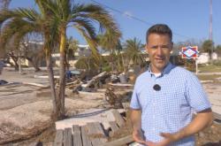 Martin Řezníček na zničených ostrovech Florida Keys