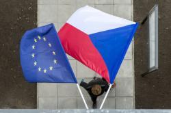 Vlajky České republiky a Evropské unie