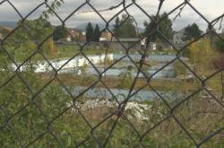 Zchátralý venkovní bazén v Zubří