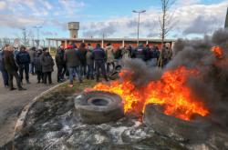 Protest dozorců ve Francii