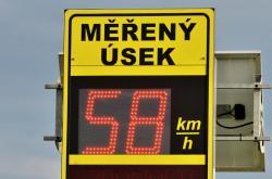 Ilustrační foto: Radar měří rychlost aut v obci