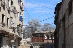 Poškozená Východní Ghúta v Sýrii