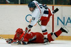Finálové utkání Česko - Rusko na hrách v Naganu 1998