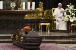Rakev s ostatky kardinála Berana