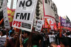 Protest proti MMF v Argentině