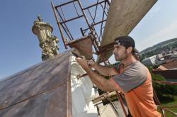Oprava střechy zámku ve Vizovicích