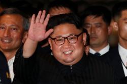 Severokorejský diktátor Kim Čong-un v Singapuru