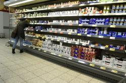 Pohled do supermarketu