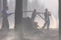 Na spáleniště u Bzence se dnes hasiči vrátili