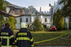 Požár zámku v Horním Maršově