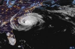 Hurikán Florence z družice