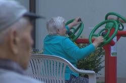 Venkovní posilovna pro seniory