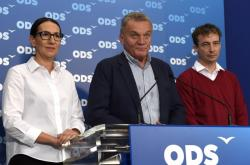 Tisková konference ODS po nedělním jednání s Piráty